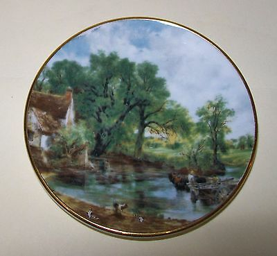 SMALL VINTAGE CROWN STAFFS PIN DISH country scene 7.75cm England