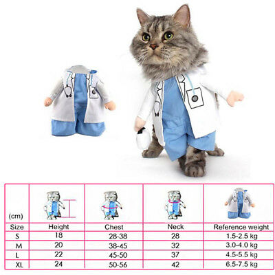 Schön Pet Dog Cat Clothes Funny Puppy Doctor Christmas Dress Costume New
