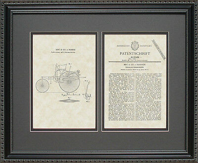 Patent Art - First Mercedes - Karl Benz Auto Mechanic Print Artwork Gift B7435