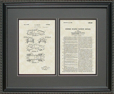 Patent Art - Futuristic Racer - Race Car Streamlined Auto Mechanic Gift B7463