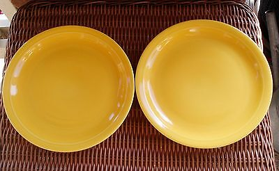 "Set of 2 Block Basics Cerind Mustard Yellow 8 1/2"" Salad Plates ~"