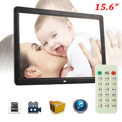 """15"""" 1080p HD LCD Digital Photo Frame Picture MP4 Movie Player Remote Control*US*"""