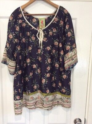Womens designer top blouse from anthropologie vintage for Johnny was silk shirt