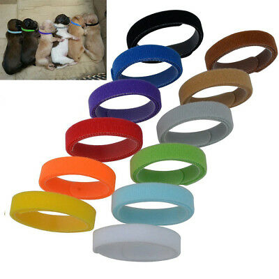 12x Newborn Adjustable Puppy ID Collar Pet Reusable Band Whelping Kitten