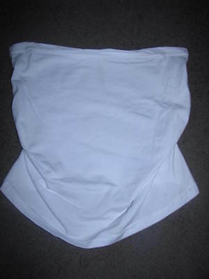 Bnew Ladies White Maternity Belly Band Size  8 - 10