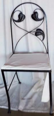 Wonderful Cast Iron Side Chair - NEEDS NEW UPHOLSTERY - GREAT LEAF PATTERN
