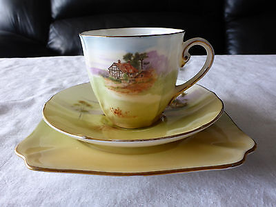 Royal Doulton England Cup Saucer Plate Trio Country Scenes 1932 #2