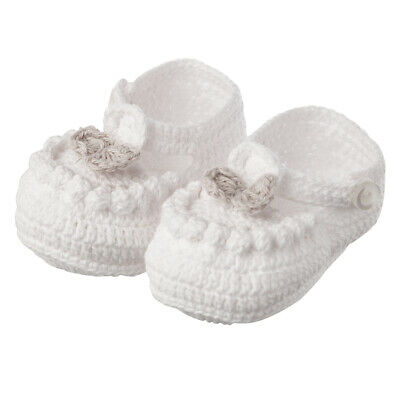 NEW Tippy Toes Baby Booties White
