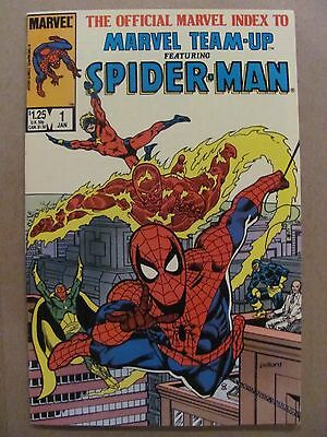 Official Marvel Index to Marvel Team-up #1 Spider-Man 1986 Series 9.2 NM-