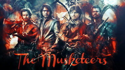 """006 The Musketeers - Season1 2 3 4 Fight Hot TV Shows 24""""x14"""" Poster"""