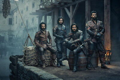 """013 The Musketeers - Season1 2 3 4 Fight Hot TV Shows 21""""x14"""" Poster"""