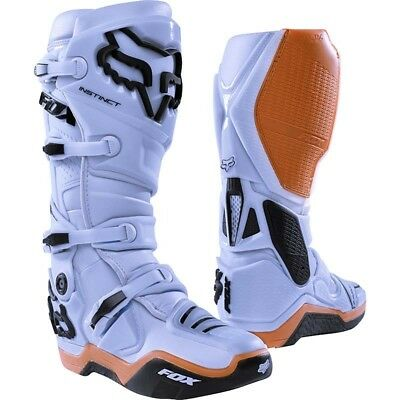 Fox Racing NEW Mx 2018 Instinct Light Grey Gum Motocross Dirt Bike Adult Boots