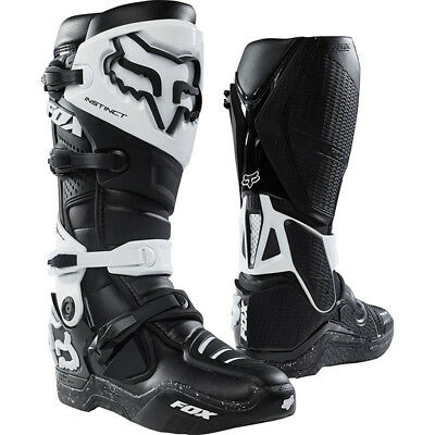 Fox Racing NEW Mx 2018 Instinct Black White Motocross Dirt Bike Adult Boots