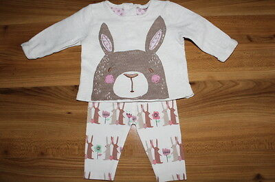 NEXT girls rabbit top leggings outfit 0-3 months *I'll combine postage*