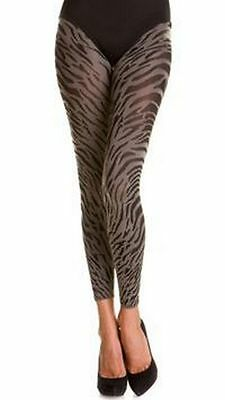 WOLFORD wildcat print leggings fuseaux calze donna animalier SERENGETI L BNWT