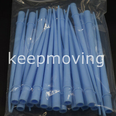 """25 Pcs Dental Surgical Aspirator Suction Tips 1/16""""  Small Orifice Blue 1 Pack"""
