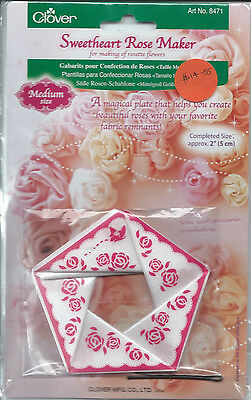 "CLOVER  "" SWEETHEART ROSE MAKER  Completed size 2"" ( 5cm )"