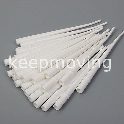 "25 Pcs Dental Surgical Aspirator Suction Tips 1/8"" Standard Orifice White 1 Pack"