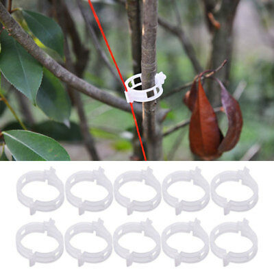 50pcs Trellis Tomato Clips Supports Connects Plants Vines Trellis Twine Cages
