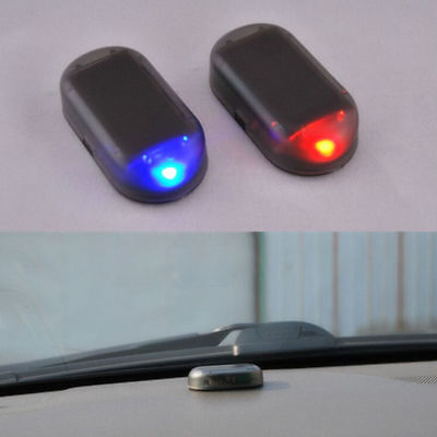 Car Solar Energy Dummy Security Anti-theft Warning Flash Alarm LED Light Mini