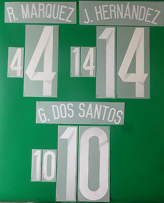 Set Flock Nameset Home Trikot Mexiko jersey shirt Mexico El Tri WM 2014 white