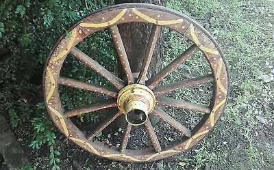 Vintage old wooden cart wagon wheel 68cm FREE DELIVERY