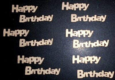 *HAPPY BIRTHDAY- GOLD* Textured Cardstock Die-cuts - Scrapbooking/Cardmaking