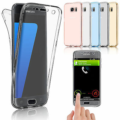 360° Shockproof TPU Transparent Full Protective Case For Samsung S6 S7 S8 A7 J7
