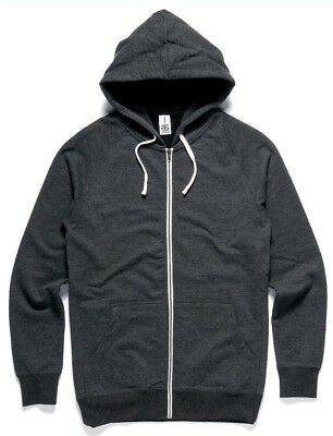 Youth Traction Zip Hood - Asphalt Marle (Size 10)