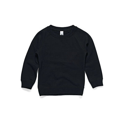 AS Colour Youth Crew - Black (Size 10)