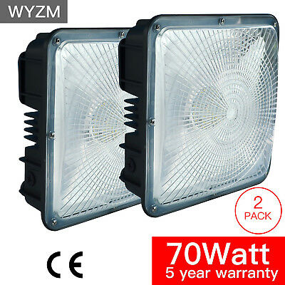 2PCS Led Canopy Lights Outdoor 6900LM DLC UL Listed For Gas Station & Warehouse