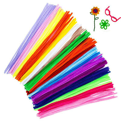200/400 Pipe Cleaners Chenille Sticks Stems 6mm x 30cm Assorted Colours Craft