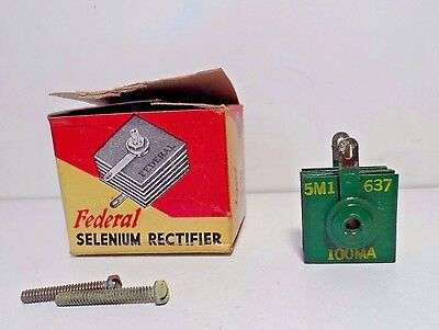 Federal Selenium Rectifier 100ma 130volts Cat. 1101A - no papers