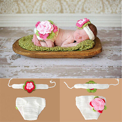 Newborn Baby Girl Boy Crochet Knit Hats Costume Photo Photography Prop Outfits