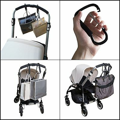 NEW Stroller Hooks Multi Purpose Hanger for Baby Diaper Bags Groceries Clothing
