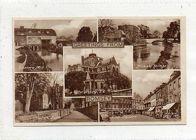 """""postcard Multiview Romsey,hampshire"""""