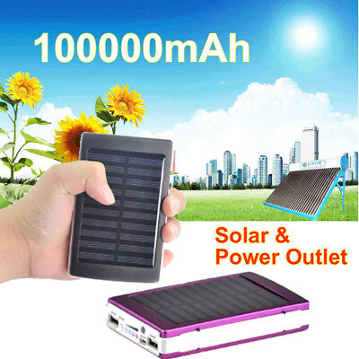 100000Mah Power Bank Charger Battery Pack Portable Usb For Mobile Phone Iphone