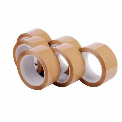 Polypropylene Packaging Tape 48mmx66m Brown (Pack of 6) 7671 [RY03774]