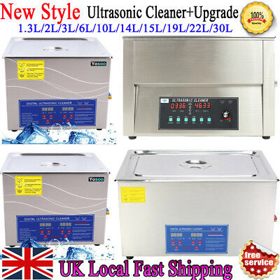 Safety Ultrasonic Cleaner Ultra Sonic Bath Cleaning Tank Timer Heate Machine New
