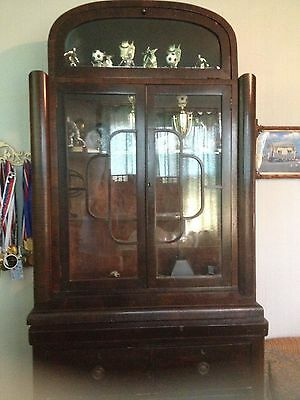 Art Deco Cabinet Display Case Shelf Unit Secretary