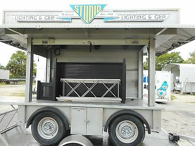 Mobile Trailer Vending Concession Stand Kiosk Vendor ROLL DOWN LOCKING DOORS