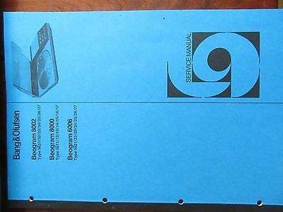 Bang&Olufsen service manual Beogram 6006 8000 en 8002-in mint condition