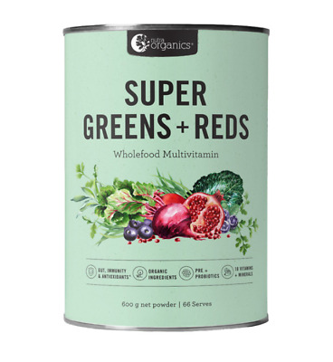 Nutra Organics Super Greens and Reds 600g now with Matcha Antioxidants