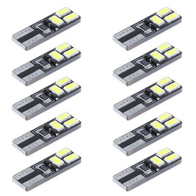 10x T10 5630 6SMD W5W Car CANBUS LED No Error Width Light License Plate Lamp