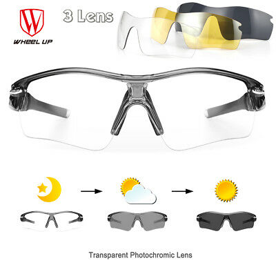 Photochromic Polarized Cycling Sunglasses Eyewear Sports Glasses Bike Goggles UV