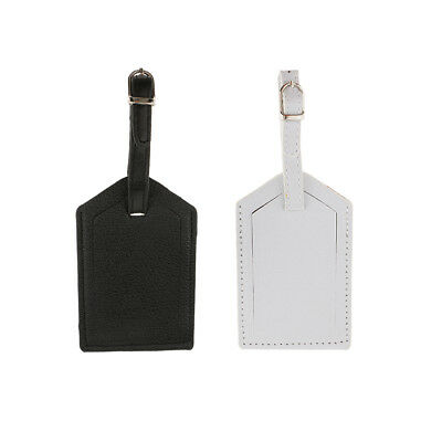 2pcs Leather Luggage Tag Bag Tag Travel Accessories Suitcase Tag Name Card