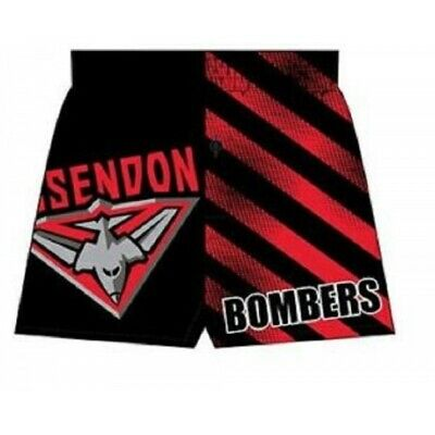 Essendon Bombers Official AFL Boxer Shorts Satin Youth BNWT