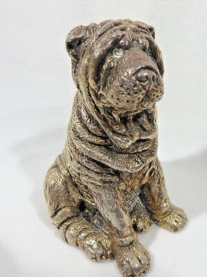 925 Sterling Silver Shar-Pei Dog Figurine 89 grams / Free Shipping