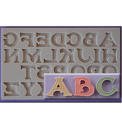 DIY Letter And Number Silicone Mould Fondant Alphabet Cake Mold Kitchen