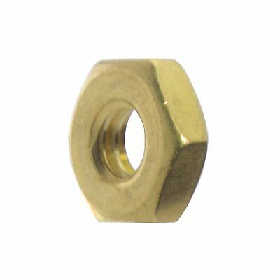 10-24 Machine Screw Hex Nuts Solid Brass Qty 50